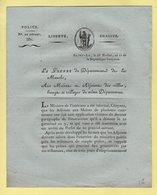 Prefet De La Manche - 25 Nivose An 11 - Delits Ruraux Et Forestiers - Tribunaux De Police - Troupes Anglaises Mendiants - Documenti Storici
