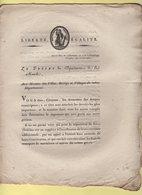 Prefet De La Manche - 14 Brumaire An 10 - Deniers Municipaux - Gestion Des Communes - Documenti Storici