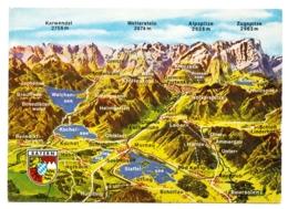 Germany / Panorama Vom Bayerischen Oberland - Landkarte - Mapas