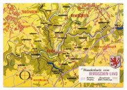 Germany / Wanderkarte Vom Bergischen Land - Landkarte - Mapas