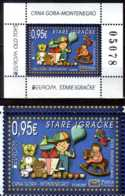 2015 Montenegro Europa CEPT Old Toys Full Set Of Numbered MS And 1 V MNH** MiNr. 370(Block 16) - Montenegro