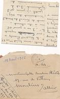 Lettre + Enveloppe 18 Avril 1916 Capitaine Témoignage Vie Durant La Première Guerre Mondiale WW1 F.M. - Postmark Collection (Covers)