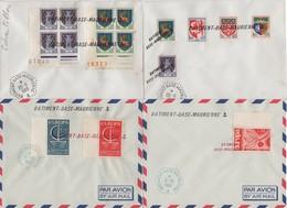 Batiment Base Maurienne - Lot De 4 Lettres - Poststempel (Briefe)