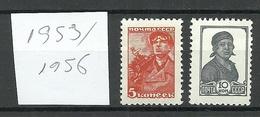 RUSSLAND RUSSIA 1953/1956 Michel 676 - 677 II MNH - Ongebruikt