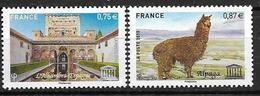 France 2010 Service N° 148/149 Neufs UNESCO à La Faciale - Dienstpost