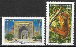 France 2017 Service N° 169/170 Neuf UNESCO à La Faciale + 10% - Service