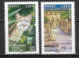 France 2016 Service N° 166/167 Neuf UNESCO à La Faciale + 10% - Dienstzegels