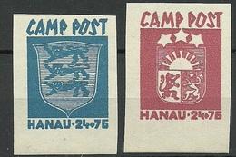 ESTONIA Estland & LETTLAND Latvia 1946 DP Camp Lagerpost Hanau Germany MNH - Germany