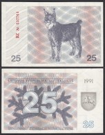 LITAUEN - LITHUANIA - 25 TALONAS 1991 PICK 36b AUNC (1-)  (25701 - Litauen