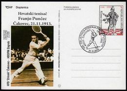 Croatia Cakovec 2013 / 100th Birthday Anniversary Of The Franjo Puncec / Tennis Player - Tennis
