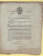Prefet De La Manche - 19 Messidor An 10 - Celebration 14 Juillet - Paix Et Concordat - Documents Historiques
