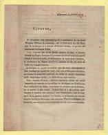 Napoleon Bonaparte Consul A Vie - Coutances - 4 Prairial An 10 - Documents Historiques