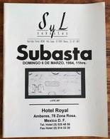 SYL AUCTIONS Shelton Liera Classic Mexico Auction Catalog March 1994 Rare, Essential Literature - Mexico