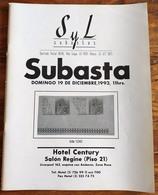 SYL AUCTIONS Shelton Liera Classic Mexico Auction Catalog December 1993 Rare, Essential Literature - Mexico
