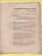 Prefet De La Manche - 11 Brumaire An 10 - Preliminaires De La Paix Avec L'Angleterre - Documenti Storici