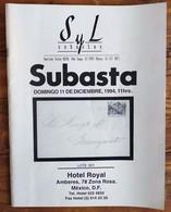 SYL AUCTIONS Shelton Liera Classic Mexico Auction Catalog December 1994 Rare, Essential Literature - Mexico