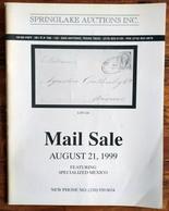 SPRINGLAKE AUCTIONS Shelton Liera Classic Mexico Auction Catalog Aug. 1999 Rare, Essential Literature - Mexico