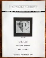 SPRINGLAKE AUCTIONS Shelton Liera Classic Mexico Auction Catalog Aug. 1998 Rare, Essential Literature - Mexico