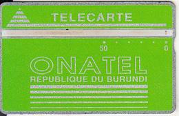 BURUNDI - Onatel Logo, Green 50 Units, CN : 808L, Tirage 8000, Used - Burundi