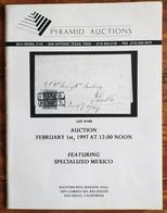 PYRAMID AUCTIONS Shelton Liera Classic Mexico Auction Catalog Febr. 1997 Rare, Essential Literature - Mexico