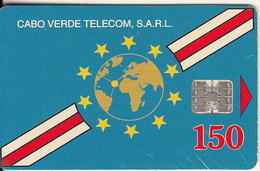 CAPE VERDE(L&G) - Globe & Flag(reverse Inverted), CN : C5B154947, Tirage %50000, Used - Kaapverdische Eilanden