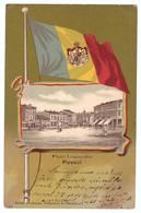 Romania Ploiesti Ploesci Piata Legumelor Drapel Flag Tricolor Regalitate Crown Royal Ed Fortuna RAR - Roumanie