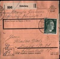 ! 1943 Paketkarte Deutsches Reich, Elsterberg Nach Leipzig, Zusammendrucke - Deutschland