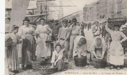 CPA - Le Lavage Du Poisson - Scène Du Port - Marseille - Pêche