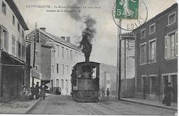 Carte Postale - LA FOUILLOUSE (42) - Montée De La Gendarmerie - Tramway - 1909 - Canton De Sorbiers - - Frankrijk