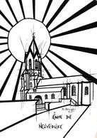 Eglise De Neuvéglise - Dessin De Daniel Brugès - France