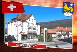 Postcard, REPRODUCTION, Municipalities Of Switzerland, Malleray - Mapas