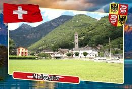 Postcard, REPRODUCTION, Municipalities Of Switzerland, Malvaglia - Mapas