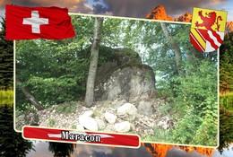 Postcard, REPRODUCTION, Municipalities Of Switzerland, Maracon - Mapas