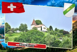 Postcard, REPRODUCTION, Municipalities Of Switzerland, Marchissy - Mapas