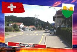 Postcard, REPRODUCTION, Municipalities Of Switzerland, Marnand - Mapas