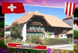 Postcard, REPRODUCTION, Municipalities Of Switzerland, Marsens - Mapas