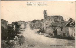 3XKS 1O44 CPA - LA GUERRE EN LORAINE - FLIREY - RUE ET EGLISE EN RUINES - Francia