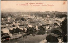 3YP 32 CPA - SAINT GIRONS - VUE PANORAMIQUE - QUARTIER VILLEFRANCHE - Saint Girons