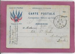 CORRESPONDANCE MILITAIRE AUX CIVILS - Postmark Collection (Covers)