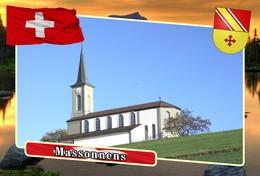 Postcard, REPRODUCTION, Municipalities Of Switzerland, Massonnens - Mapas