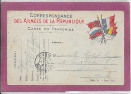 CORRESPONDANCE DES ARMEES DE LA REPUBLIQUE  CARTE EN FRACHISE - Postmark Collection (Covers)