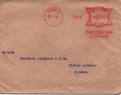 CESKOSLOVENSKO  VIEILLE ENVELOPPE TIMBREE DE PRAHA  DU 20 JANVIER  1928 - Czechoslovakia