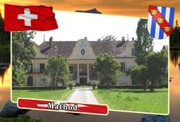 Postcard, REPRODUCTION, Municipalities Of Switzerland, Mathod - Mapas