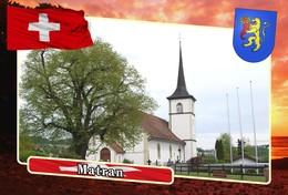Postcard, REPRODUCTION, Municipalities Of Switzerland, Matran - Mapas