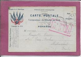CARTE POSTALE Correspondance Des Militaires Aux Civils - Postmark Collection (Covers)