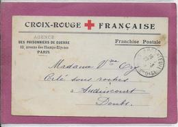 CROIX ROUGE FRANÇAISE  Franchise Postale - Postmark Collection (Covers)