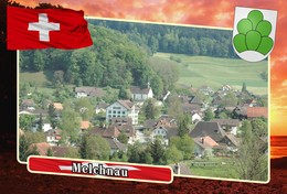 Postcard, REPRODUCTION, Municipalities Of Switzerland, Melchnau - Landkaarten