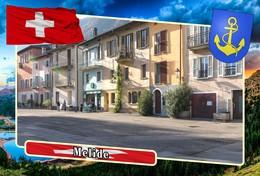Postcard, REPRODUCTION, Municipalities Of Switzerland, Melide - Mapas