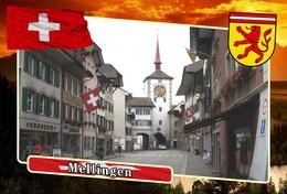 Postcard, REPRODUCTION, Municipalities Of Switzerland, Mellingen - Mapas