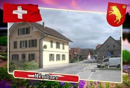 Postcard, REPRODUCTION, Municipalities Of Switzerland, Ménières - Mapas